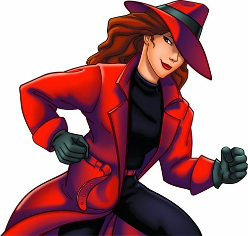 Female Cartoon Characters 90s : Carmen sandiego